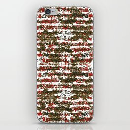 Grunge Textured Abstract Pattern iPhone Skin