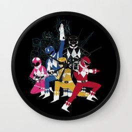 power glove rangers Wall Clock