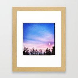 Good Morning Moon Framed Art Print