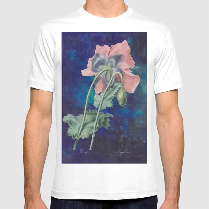 0ed80cb0d890a French Poppy - Vintage Botanical Illustration Collage T-shirt by  forgottenbeauty