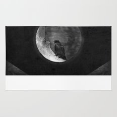 The crow and its moon. Rug