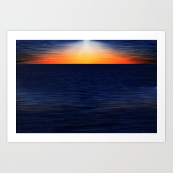 Angelslight over the sea Art Print