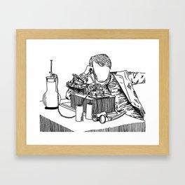 The Wizard of Menlo Park Framed Art Print