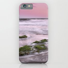 Purple sunset at the beach. Marbella. iPhone Case