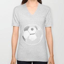 Soccer Yin Yang Ball Football Harmony China Gift Unisex V-Neck