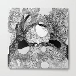 Kosmos Black&White Metal Print