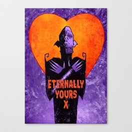 Monster Love Valentine's - Eternally Yours X Canvas Print