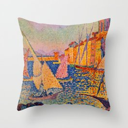 France Travel Poster Throw Pillow