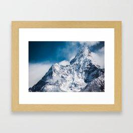 Snowy Ama Dablam mountain, Himalayan range of eastern Nepal Asia Framed Art Print