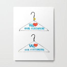 Hanger Appeal Metal Print