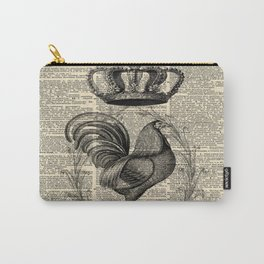 western country french chicken kitchen art farmhouse rooster Carry-All Pouch