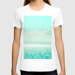 Winter Aqua Sparkling Seashore T-shirt