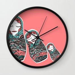 Sleeping Matrioska Wall Clock