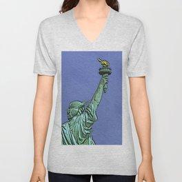Lady Liberty #6 Unisex V-Neck