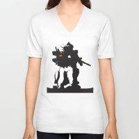 gundam V-neck T-shirts featuring Gundam RX-78-2 by Jason Weisbrot