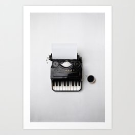 On a musical note Art Print