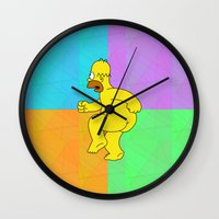 homer Wall Clocks featuring NAKED HOMER For IPhone by Vertigo