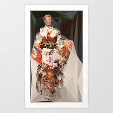 polygonal kimono impress Art Print