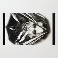 edward scissorhands Area & Throw Rugs featuring Edward Scissorhands by Whitney Wilkinson