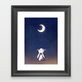 Moon Bunny Framed Art Print