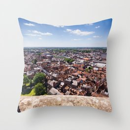 View of York from York Minster Cathedral tower Throw Pillow