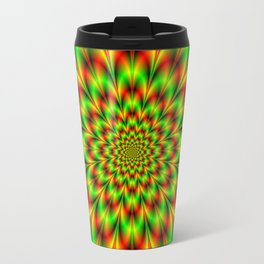 Rosette in Green and Red Travel Mug