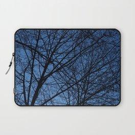 Tree Lace: Blue Laptop Sleeve