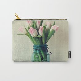 Mason Jar Spring Tulips Carry-All Pouch