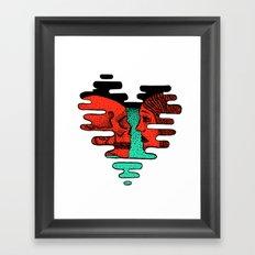 Love Skulls Framed Art Print