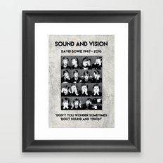 David Bowie : Sound and Vision Framed Art Print