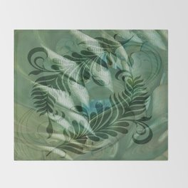 Dancing Thoughts series Throw Blanket