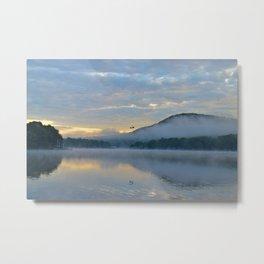 Dreamy Morning: Serene Shades of Blue Metal Print