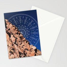 Mandala in the Desert Stationery Cards