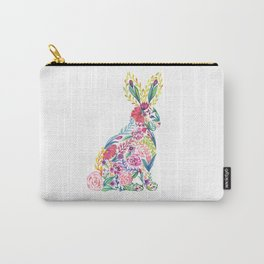 Flower Bunny Carry-All Pouch