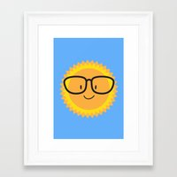 sunglasses Framed Art Prints featuring Sunglasses by Danielle Podeszek