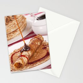 I - Dutch pancakes with syrup or 'pannenkoeken met stroop' Stationery Cards