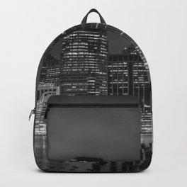 NEW YORK CITY Monochrome Night Impressions | slim panoramic Backpack