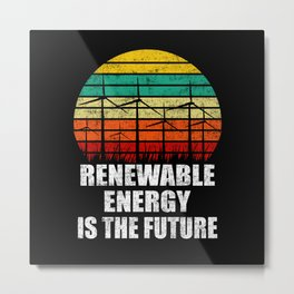 Renewable Energy - Wind Energy T-shirt Design Metal Print
