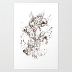 Fishcakes & Remedies Art Print