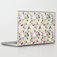 bees Laptop & iPad Skins featuring Bees by Yellow Button Studio