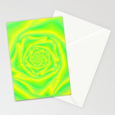 Rose Spiral in Yellow and Green Stationery Cards