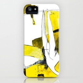 Track and field in yellow iPhone Case