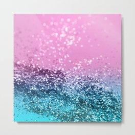Tropical Beach Lady Glitter #1 #shiny #decor #art #society6 Metal Print