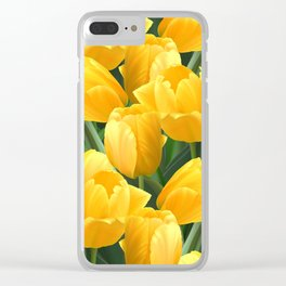 Yellow Tulips Field Clear iPhone Case