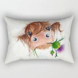 Thistle MacKenzie-McMoo by Fiona Bárcenas Rectangular Pillow