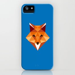 Fox // Low Poly Art // Animal Heads iPhone Case
