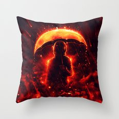 Cosmic Rain Throw Pillow