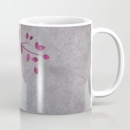 Pink Moon and leaf illustration Coffee Mug