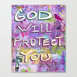 God Will Protect You Canvas Print