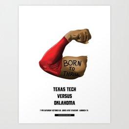 Full Metal Quarterback - TTU vs. OU 10.22.16 Art Print